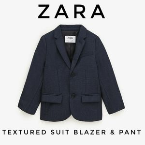 NWT Zara Boys Textured Weave Suit Blazer and Pant